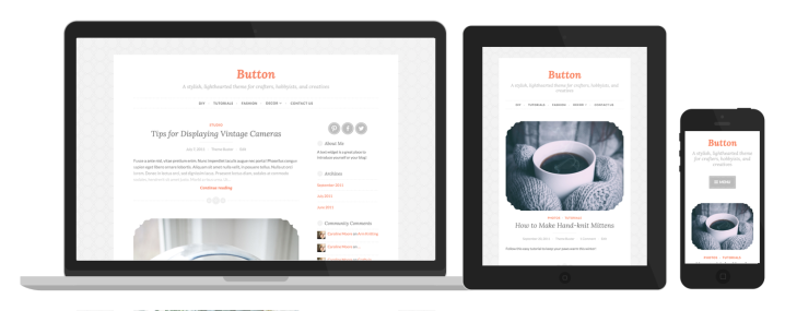 Button's responsive design