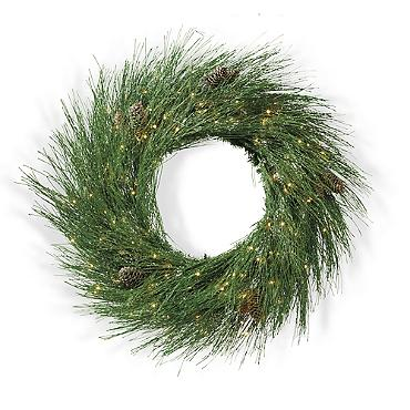 Beautiful Christmas starts with all the little or big details, like wreaths by ELLE DECOR www.elledecor.com