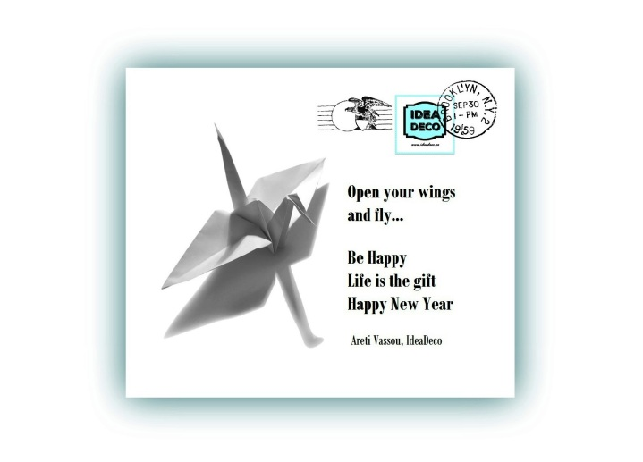 Open your wings and fly ... Life is the gift , be happy!!! Happy New Year!!! by Areti Vassou, IdeaDeco