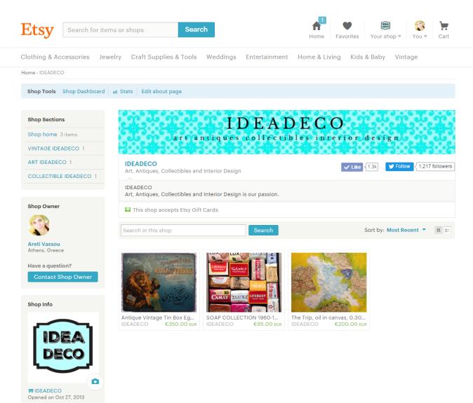 IdeaDeco Shop at Etsy by Areti Vassou