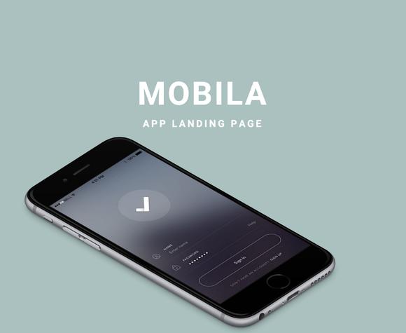 Mobila - App Landing Page Creative Market