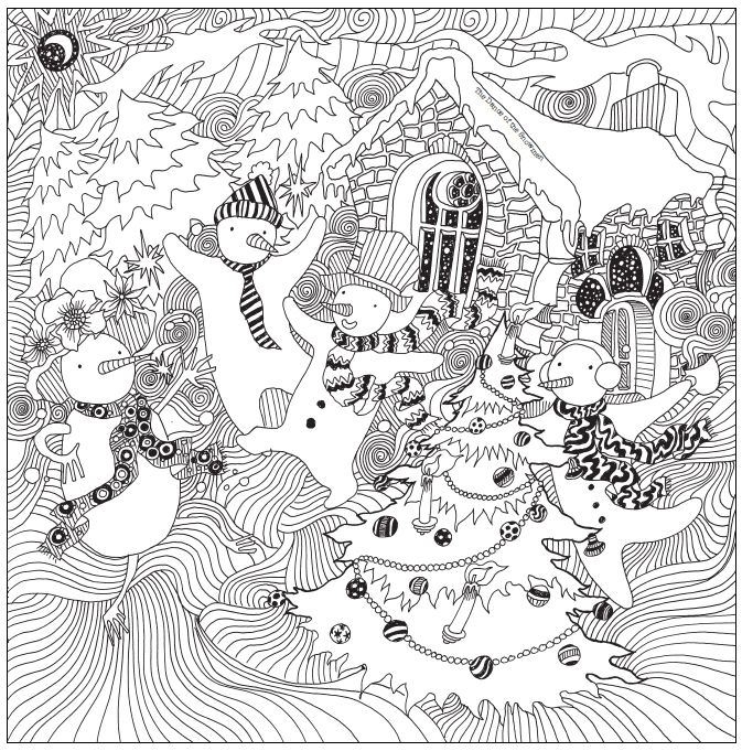 Get creative with a festive Christmas colouring page