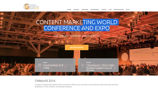 CMWorld 2016 | September 6-9 | Ohio USA