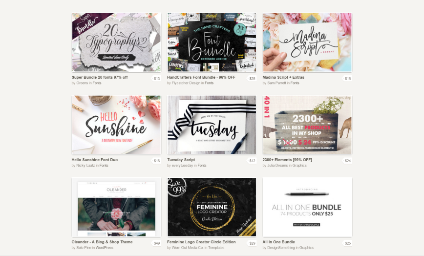 Creative Market offers Top design resources from independent creators.