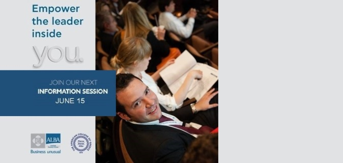 Join ALBA Info Session on June 15 and Learn from ALBA's International Faculty
