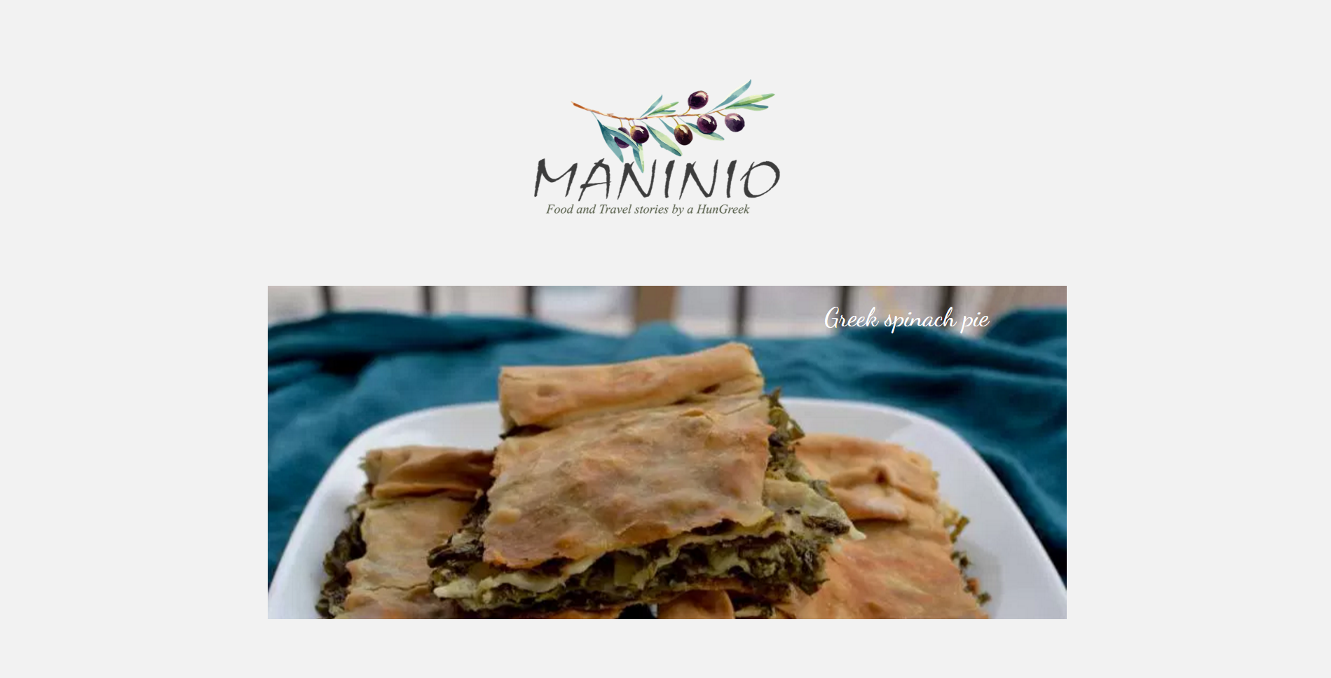 Amazing recipes made by a great Food & Travel Blogger, Pinelopi Kyriazi. www.maninio.com