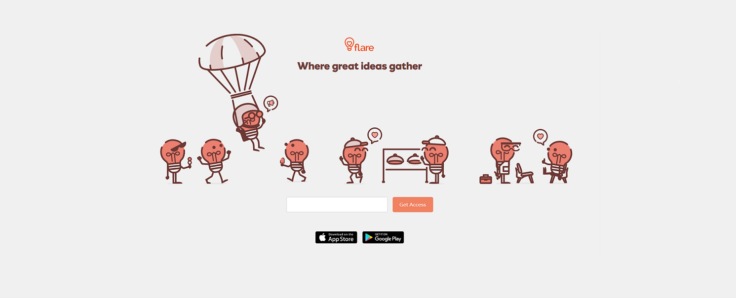 Flare. Discover and support great ideas!