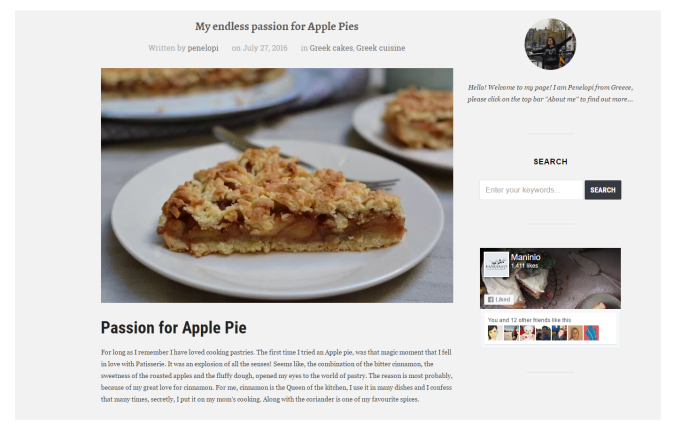 Maninio Passion for Apple Pie