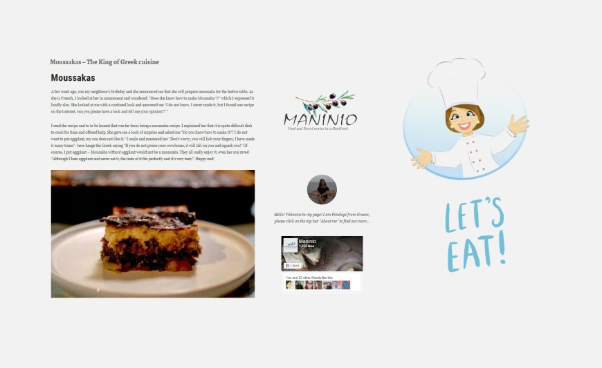 Moussakas – The King of Greek cuisine