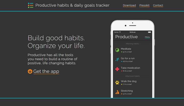 Productive has all the tools you need to build a routine of positive, life changing habits.