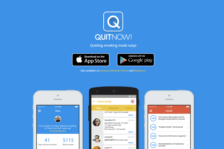 Love to quit smoking for good? With QuitNow! you can do just that. QuitNow! is a community of over two million users that have quit smoking thanks to this app.