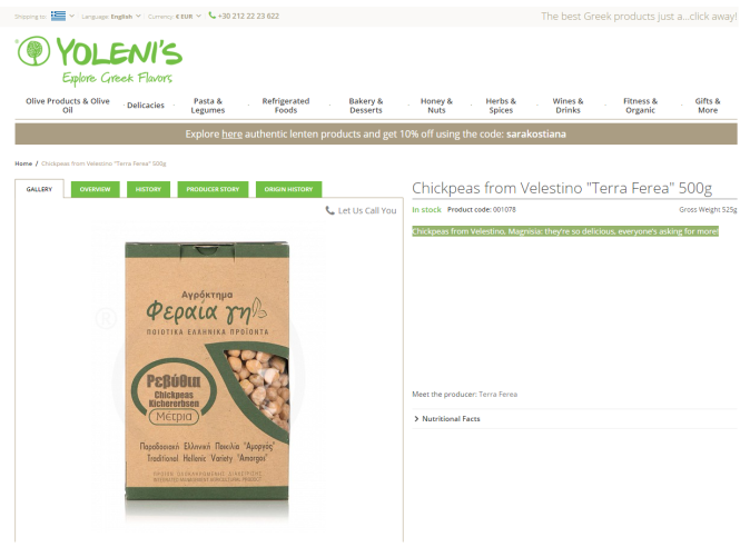 Chickpeas by Yoleni's