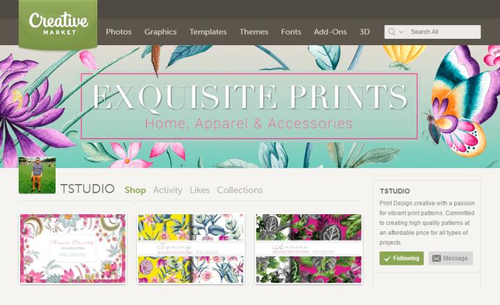 TSTUDIO Chinoiserie motifs creative market graphic design