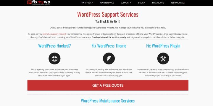 FixMyWP website