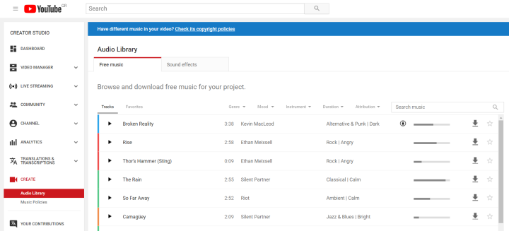 Free Background Music for Video - YouTube Audio Library