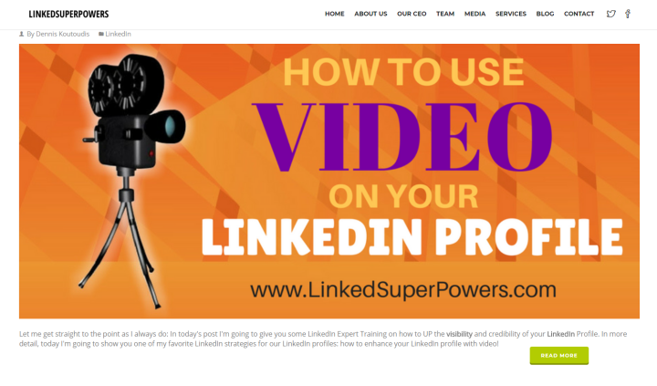 How to use videos on your LinkedIn profile