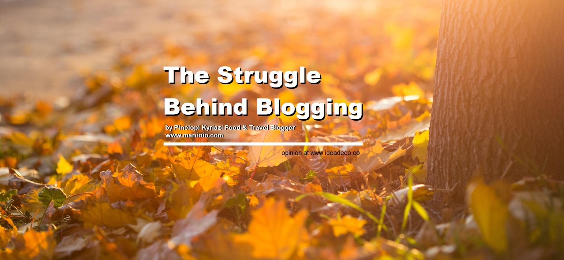 The Struggle Behind Blogging