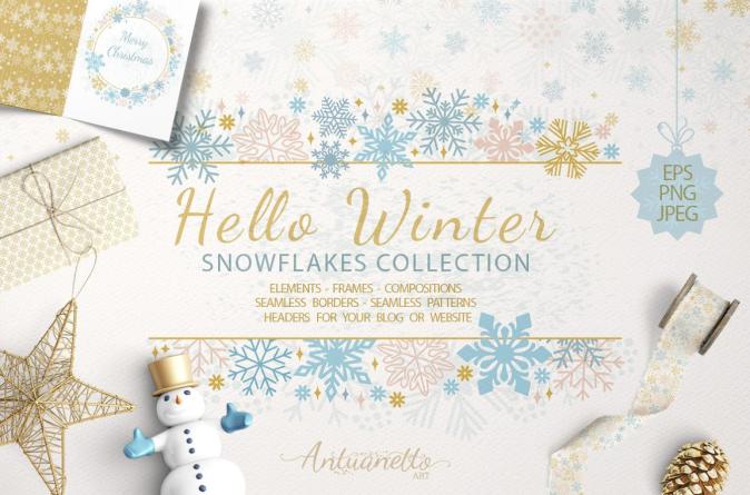 Christmas Snowflakes Creative Market