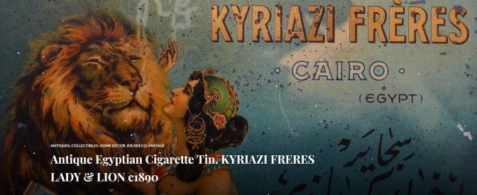 Antique Egyptian Cigarette Tin