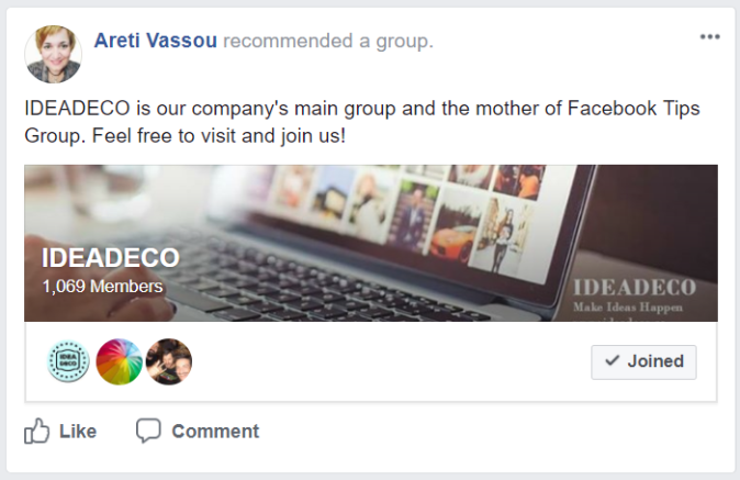 Ideadeco facebook group