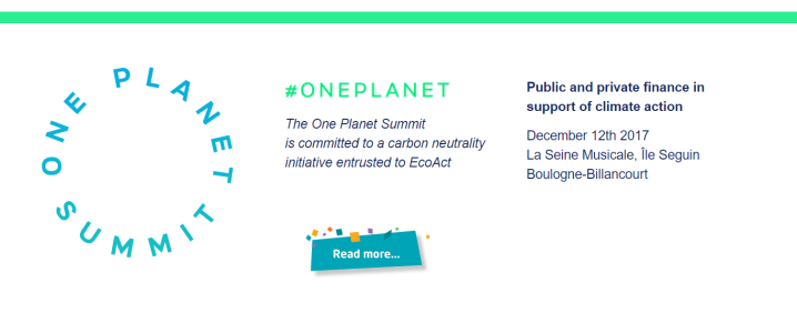 Projects For Our Planet - One Planet Summit 2017