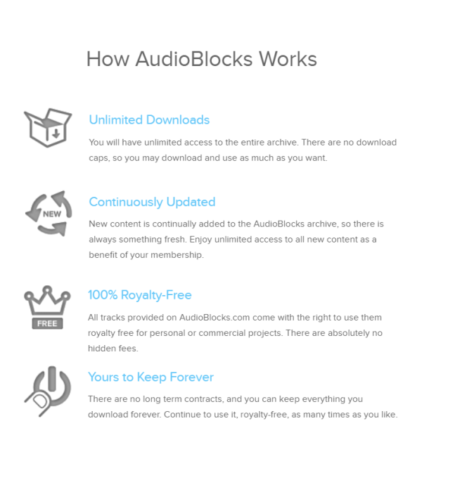 Royalty Free Music AudioBlocks