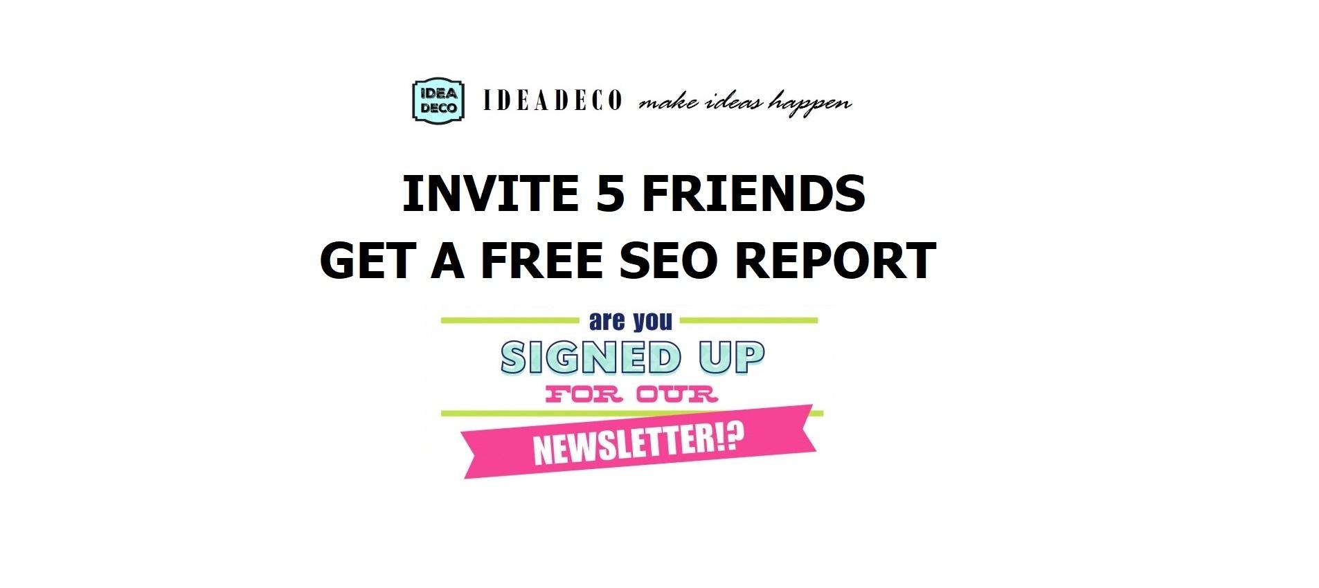 JoinIdeadeco Newsletter