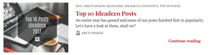 Top 10 Posts Ideadeco 2017