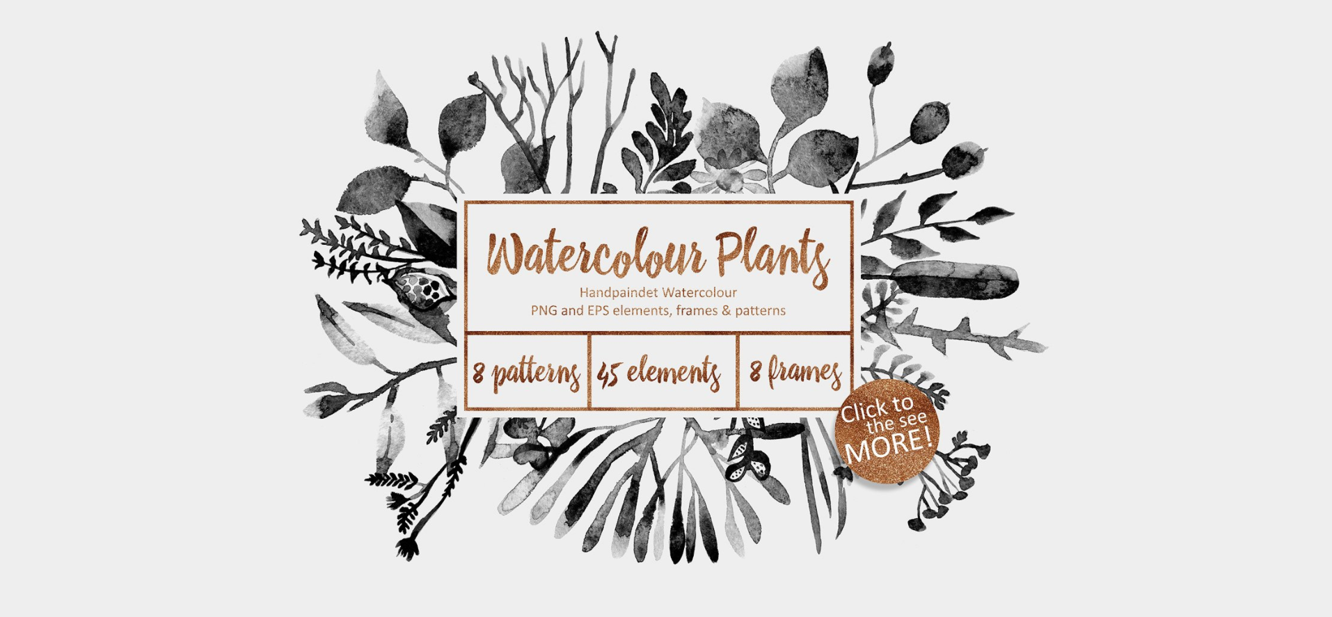 Watercolor Plants by Creative Market