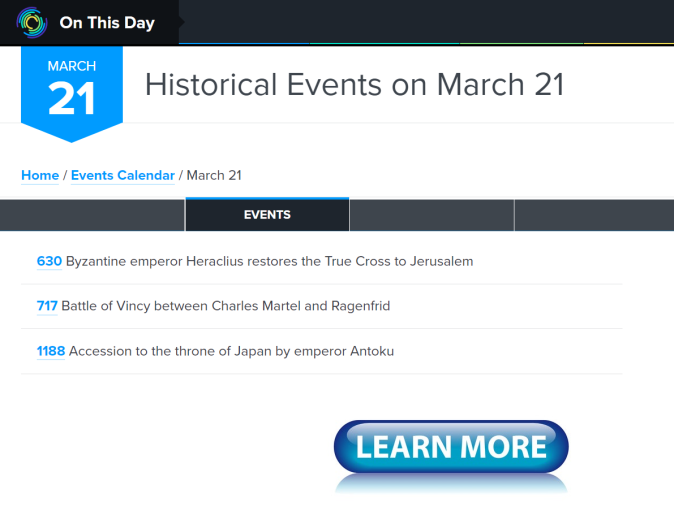 Historical Events on March 21