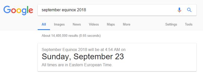 september equinox 2018