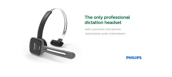 Philips Wireless Dictation Headset