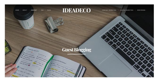 IdeaDeco Guest Blogging Invitation
