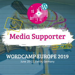 WordCamp Europe 2019 Media Supporter