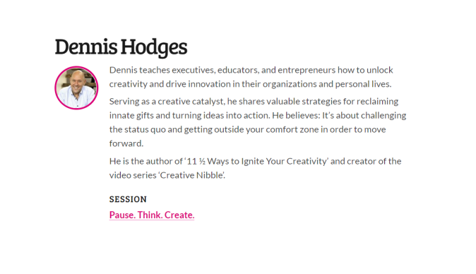 Pause. Think. Create. by Dennis Hodges