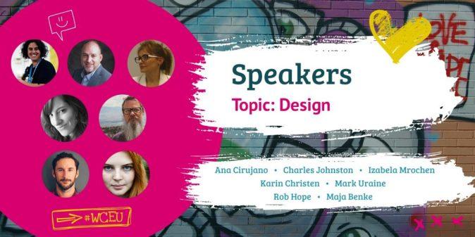WordCamp Europe 2019 Speakers, Design