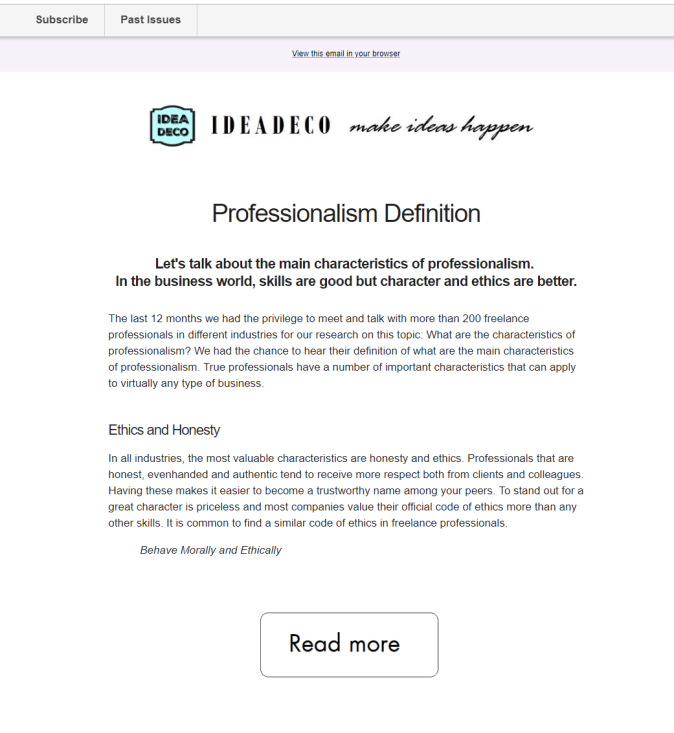Ideadeco Newsletter