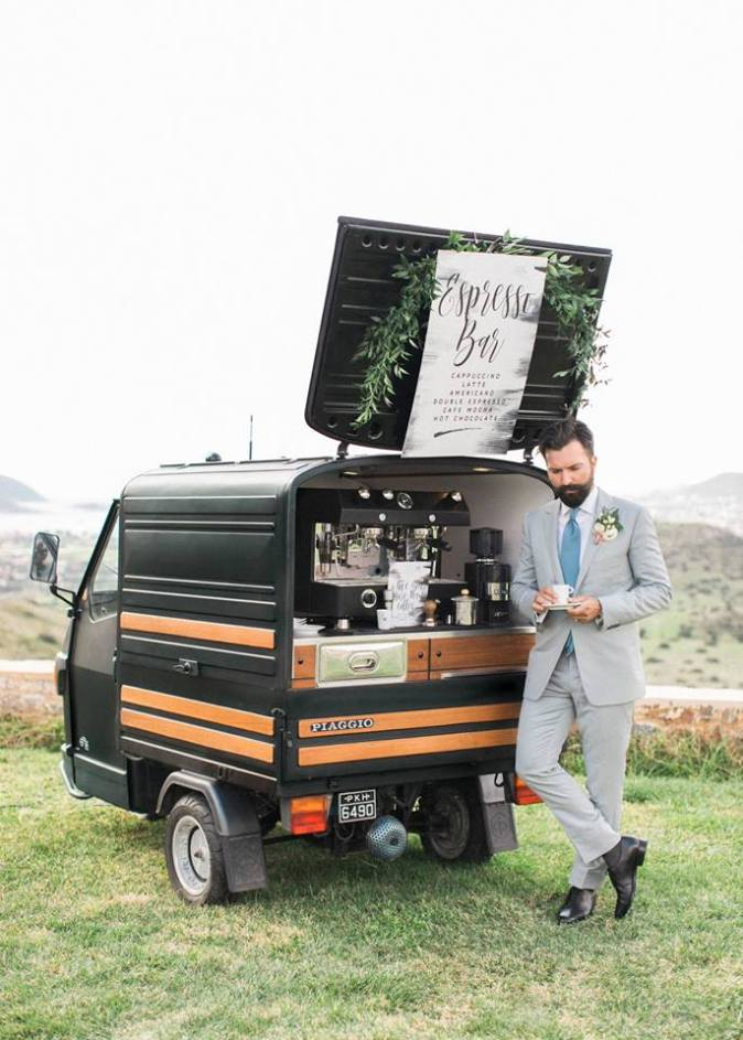 Coffee Inspired Prosecco Van