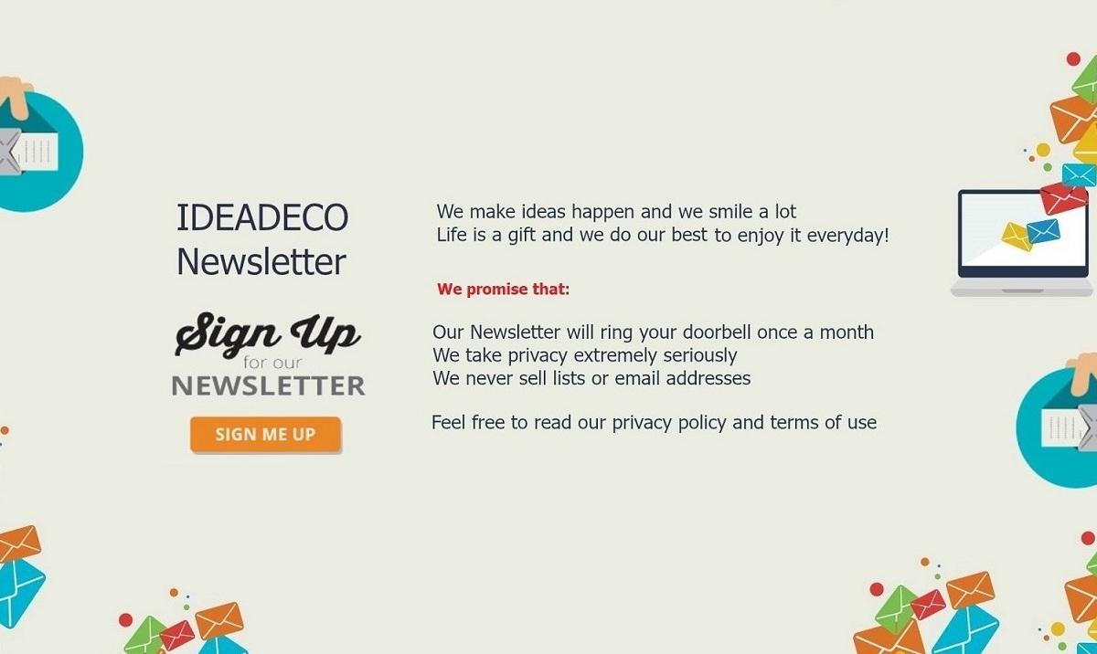 Join Ideadeco Newsletter